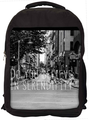 Snoogg  Do You Believe in Serendipity Laptop Backpack Casual School Backpack