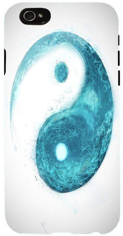 Snoogg yin yang wave Case Cover For Apple Iphone 6+