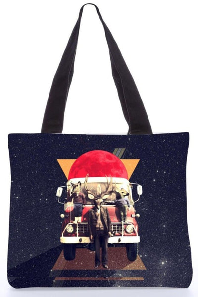 "Canvas Tote Bags  ""El Camion it"" Graphic Design by : Ali Gulec"