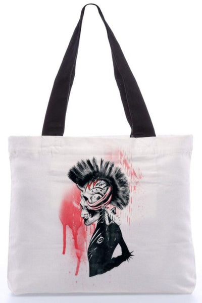 "Canvas Tote Bags  ""Punk It"" Graphic Design by : Ali Gulec"