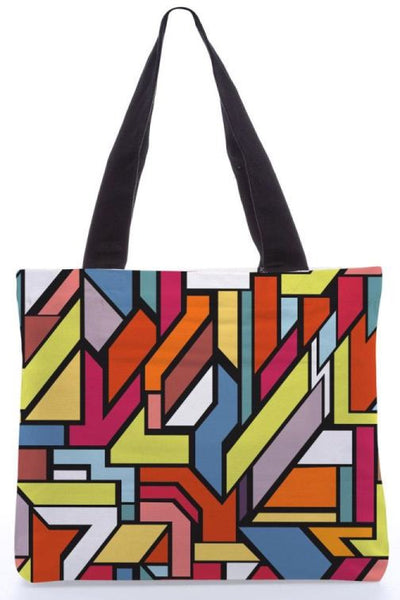 "Canvas Tote Bags  ""Abstract Shapes"" Graphic Design by : Danny Ivan"
