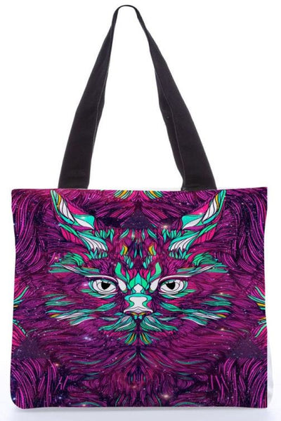 "Canvas Tote Bags  ""Danny Ivan-Space Cat"" Graphic Design by : Danny Ivan"