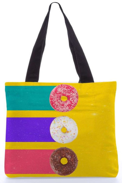 "Canvas Tote Bags  ""Donuts"" Graphic Design by : Danny Ivan"