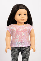 Light Purple Sequin Lila Blouse - American Girl Doll Clothes