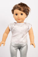 Lilac Satin and Silver Lace Lila Blouse - American Girl Doll Clothes