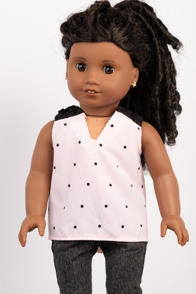 Light Pink Meagan Tank - American Girl Doll Clothes