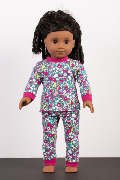 Floral Separates Pajama Set - American Girl Doll Clothes