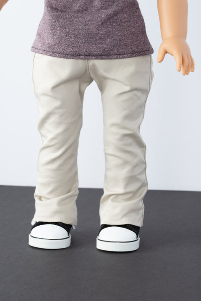 Khaki Boot-cut Pants - American Girl Doll Clothes