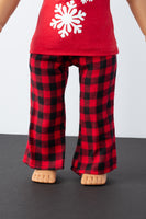 Black and Red Flannel Pajama Pants - American Girl Doll Clothes