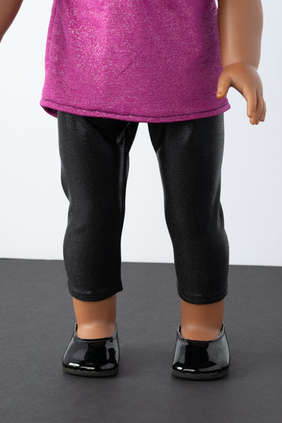 Black Capri Leggings - American Girl Doll Clothes