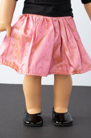 Pink Silk A-Line Skirt - American Girl Doll Clothes