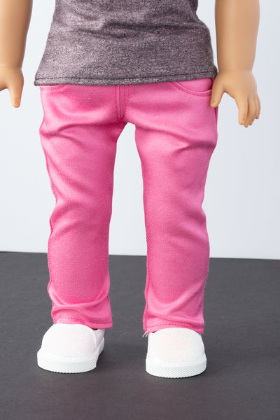 Pink Skinny Jeans - American Girl Doll Clothes