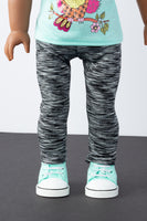 Black and White Leggings - American Girl Doll Clothes