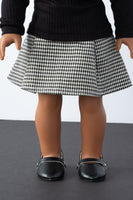Black and White Houndstooth Pleated Skirt - American Girl Doll Clothes