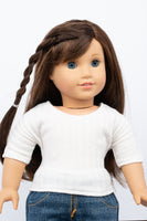White Dolman-Sleeve Top - American Girl Doll Clothes