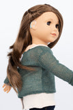 Hunter Green with Gold Sparkles Sweater - American Girl Doll Clothes