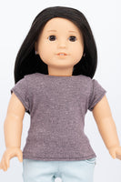 Purple Heather T-Shirt - American Girl Doll Clothes