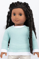 Light Green Raglan Sweatshirt - American Girl Doll Clothes