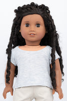 Heather blue T-Shirt - American Girl Doll Clothes