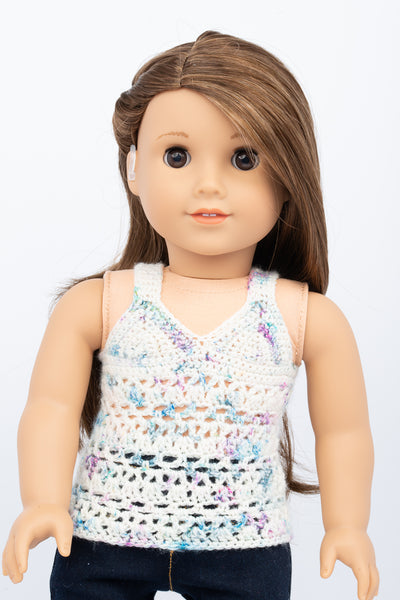 Hand Crochet Tank Top - American Girl Doll Clothes