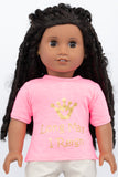 "Graphic Tee, Princess ""Long May I Reign"" - American Girl Doll Clothes"