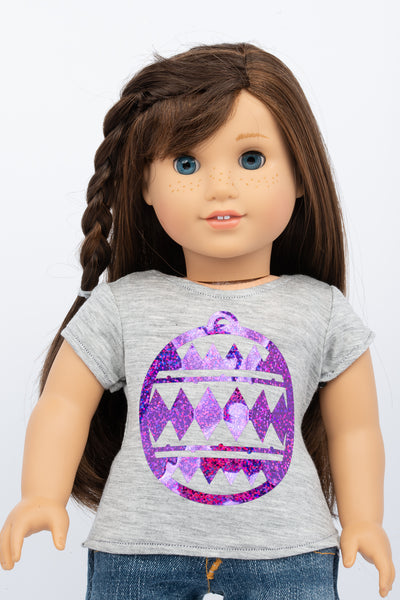 Graphic Tee, Holiday Ornament - American Girl Doll Clothes