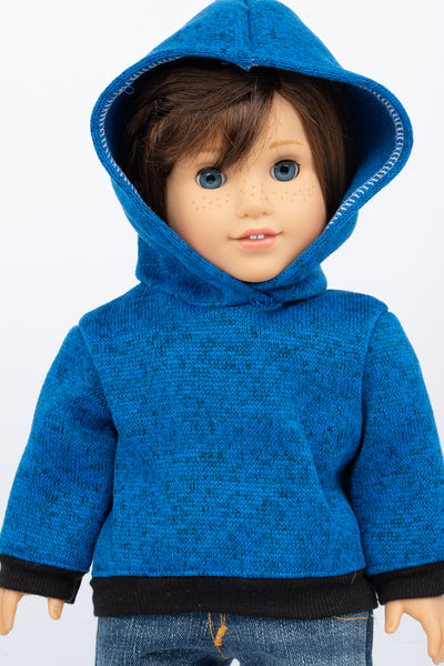 Blue Hoodie Sweatshirt - American Girl Doll Clothes