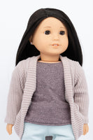 Beige Slouch Cardigan Sweater - American Girl Doll Clothes