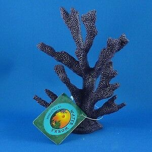 Aquarium artificial small coral tree in purple