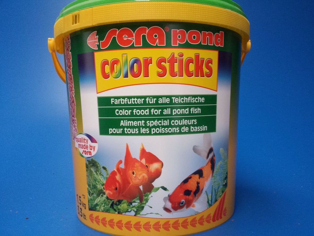 New Sera Pond Color Sticks Pellet Food 1.5kg, the best quality pond fish food!