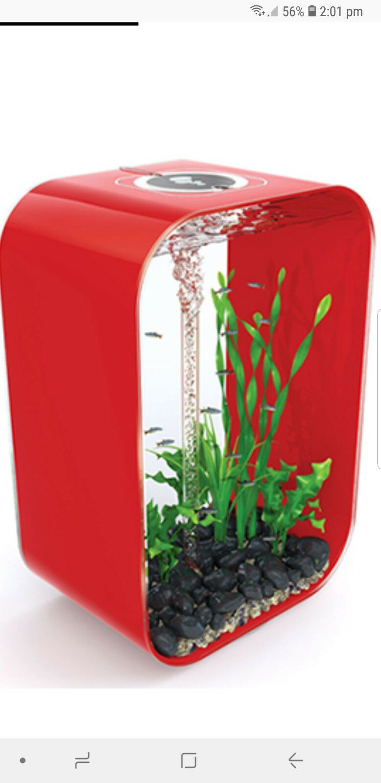BiOrb life 45 in Red Aquarium Set Up, on Special