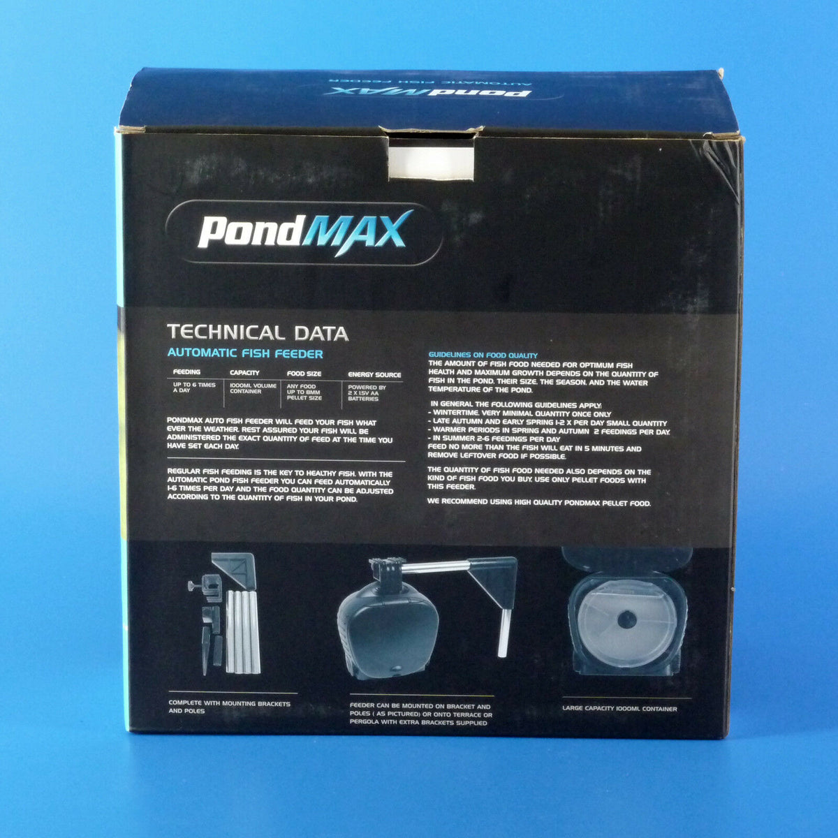 New Pondmax Automatic Fish Feeder
