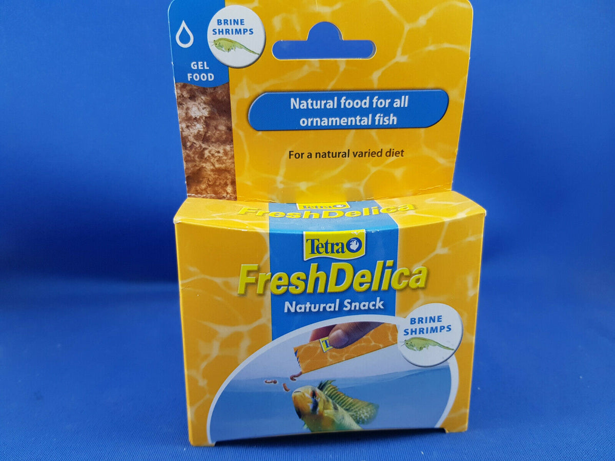 Tetra Fresh Delica shrimp 16 x 3g , best fish treat food available!