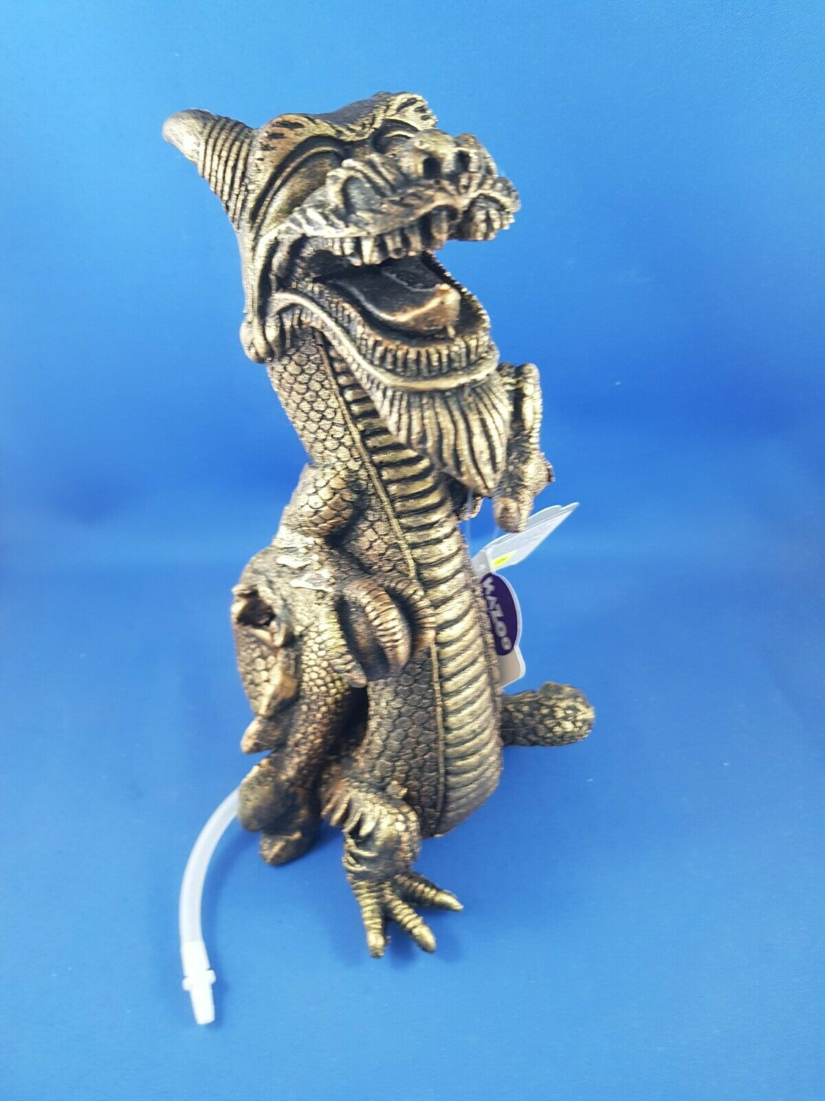 New Kazoo medium Chinese Dragon in Gold colour with air stone