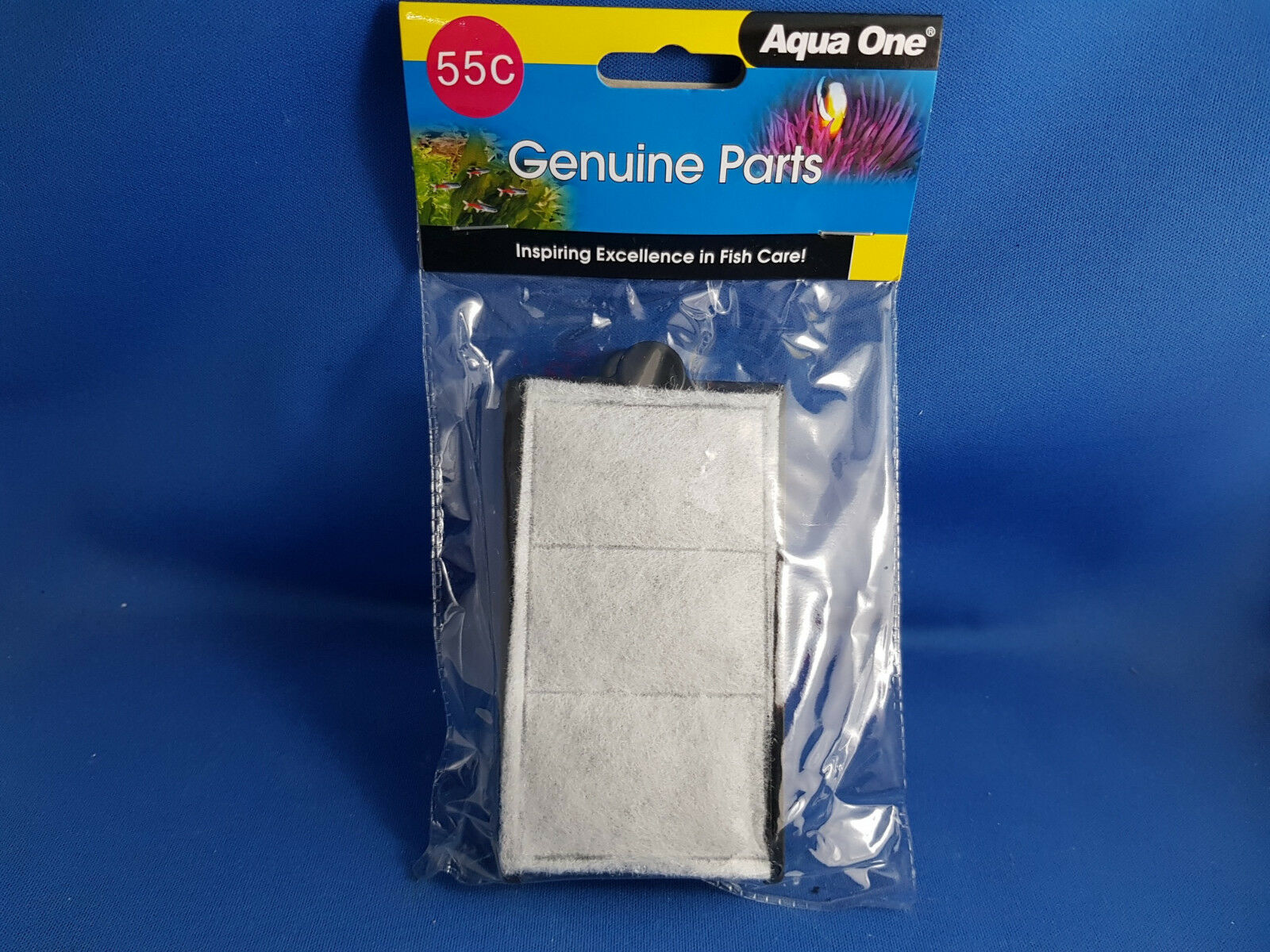 New Aqua One 55c filter cartridge, suits 280 Clearview hang on filter 2pk