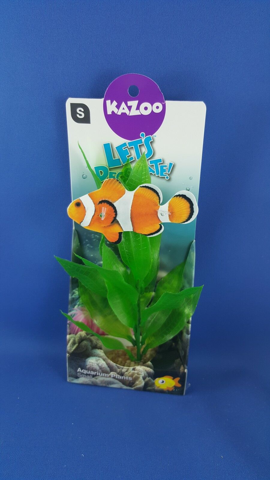 Kazoo aquarium plant, small with large green leaves with solid pebble base