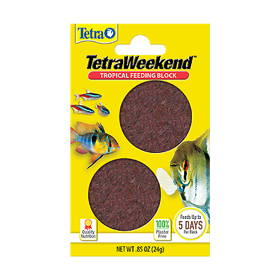 Tetra weekend feeding gel blocks, lasts up to 5 days, best fish holiday food!