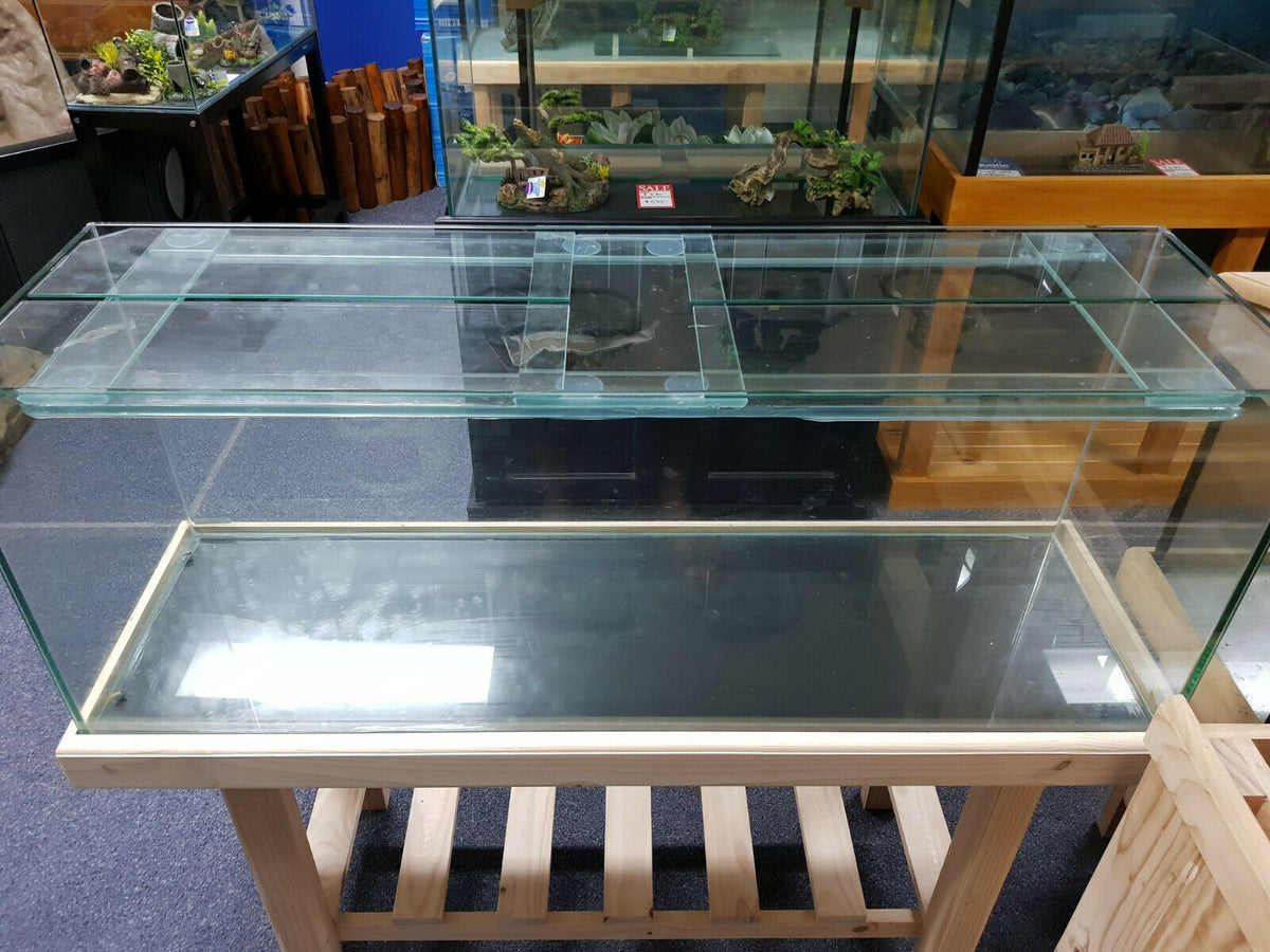 "Brand new 4ft x 14 x 18""H aquarium/fish tank c/w cover glass & polished edges"