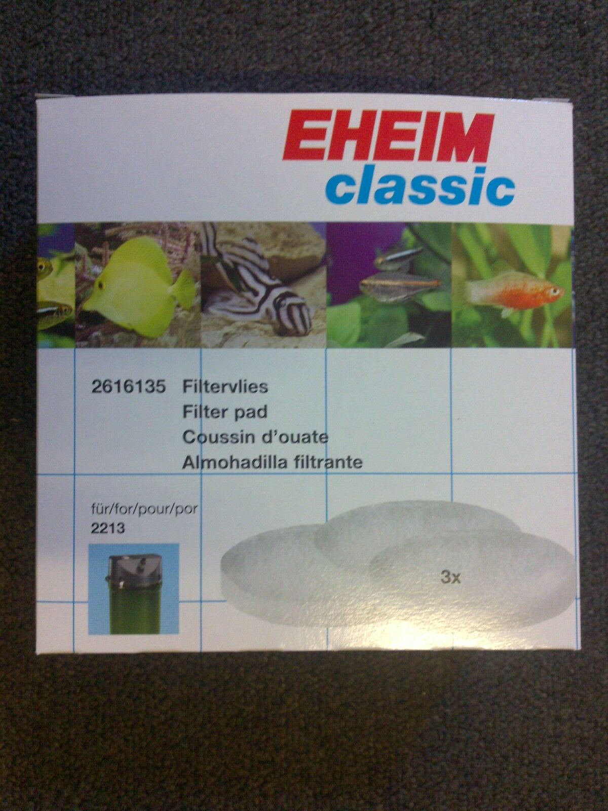 Eheim 2213 White Poly and Carbon pad Set