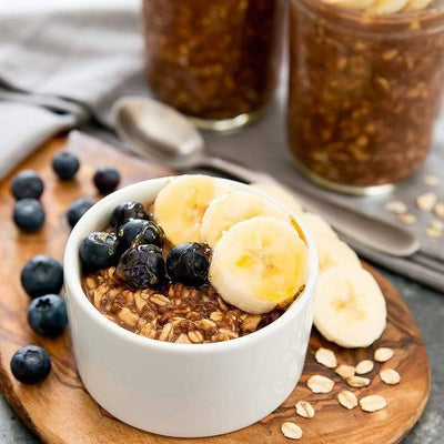 The Healthy-haired Chef | Chocolate PB Overnight Protein Oats