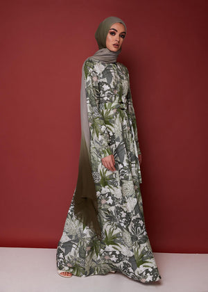 Botanical Palms Maxi Dress