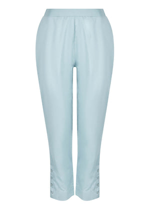 Eyelet Button Trousers Blue