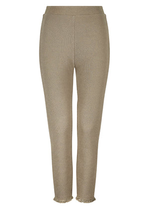 Textured Trousers Khaki