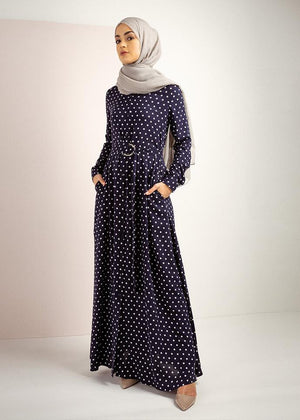 Polka Maxi Dress Aab