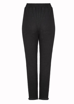 Textured Trousers Black
