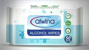 AIWINA Multi-Purpose Wipes 50 Sheets per Pack (70% Alcohol) - 36 Packs per Carton Now Available! (MINIMUM ORDER 1 CARTON) AIWINAWIPE-36PCK-CTN