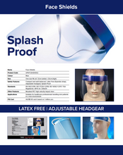 Load image into Gallery viewer, Face Shield - 300 Pieces per Carton (TGA, ISO & CE Certified) Available Now! (MINIMUM ORDER 1 CARTON) Product Code: HPVFCSHD0002-CTN