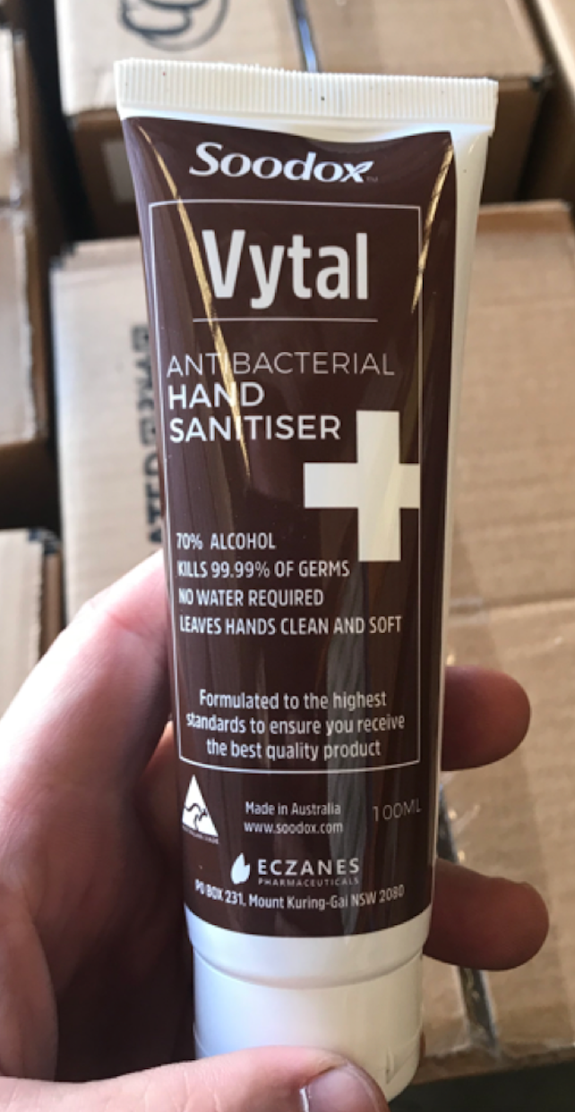 Soodox™ Vytal Antibacterial Hand Sanitiser 100ml (70% Alcohol ) - 72 Units per Carton Now Available! (MINIMUM ORDER 1 CARTON) DYNA100007-72PC-CTN