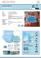 Load image into Gallery viewer, Medical Type IIR Splash Resistant 3Ply Surgical Mask - 2,000 Pieces per Carton (TGA, FDA & CE Certified). Available Now! (MINIMUM ORDER 1 CARTON). Code: barrier3-CTN