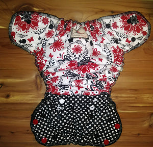 """Boop"" Hybrid fitted cloth diaper"